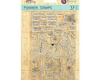 Julie Nutting 37 pc. Clear Stamp Set ~Holiday Bliss~ Scrapbooking, Crafting, Journaling, Mixed Media