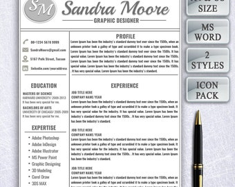 Clean Resume template, word resume, cv template, professional resume, simple resume template, creative resume, resume design, instant cv