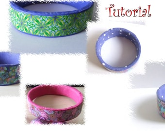 Millifiori bangle bracelet tutorial, completely made out of clay.
