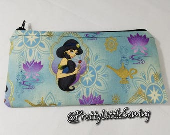 Princess Jasmine  Wallet, Money Envelope, Coupon Holder, Mini Makeup Bag, Pencil Case
