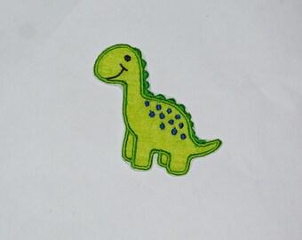 Embroidered Iron On Applique- Dinosaur RTS