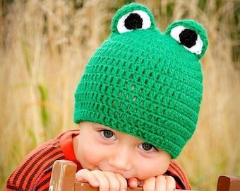 Green Frog Beanie Hat