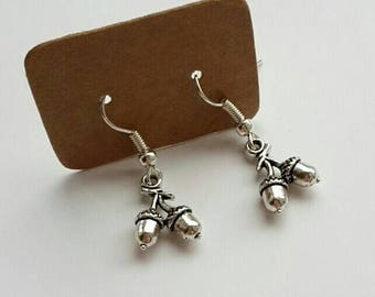 Adorable dainty acorn drop earrings - mori gal pixie hippie
