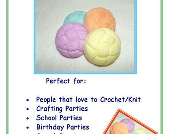 20 Yarn Soaps, Soap for Knitters, Soap for Crocheters, Yarn Ball Soap, 20 Pack of Soap