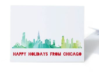 Chicago Christmas Card Set
