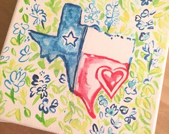 Lilly Pulitzer Canvas Inspired by the Poolside Lovebirds print! Texas!