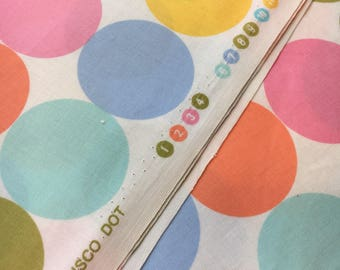 "Michael Miller Fabrics ""Disco Dot"" in pastel. Sold by the half yard."