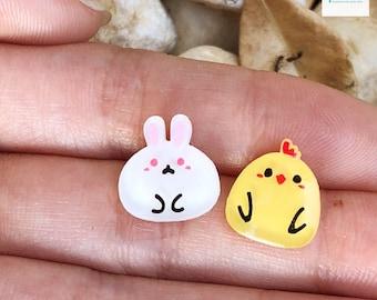 Easter Bunny & Chicken Earrings