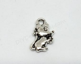 Bracelet charms etsy small mouse charms 12 x 7 mm silver tone mice pendants bracelet charm mozeypictures Images