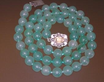 Vintage Blue Chalcedony Necklace