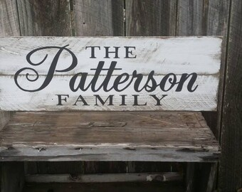 Personalized Family Name Wall Art - Wood Sign