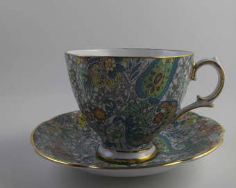 CLEARANCE Royal Tara Cup and Saucer  Vintage Paisley Print #222