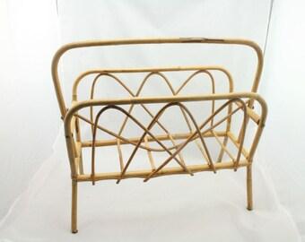 Vintage bamboo paper rack