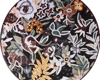 Flower Tiles on a Medallion Shape