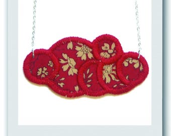 Necklace in Liberty Capel red cloud