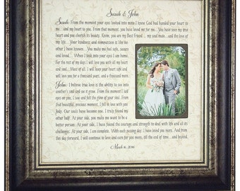 1st First Anniversary, Personalized Anniversary Gift, Wedding Vows Gift, 16x16