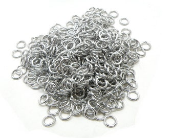 Jump Rings For Chainmaille Saw Cut 16g 1/4  Inch Aluminum