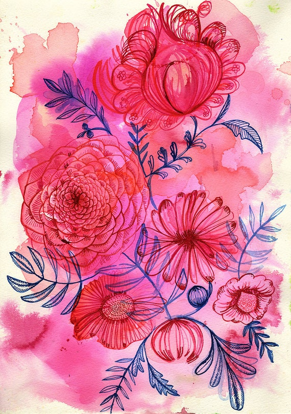 Floral Forms No.2 Wall Art Print botanical illustration