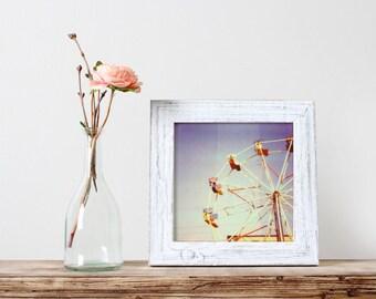 Ferris Wheel Photography, Film Photography, Carnival Art, Nursery Art, Dreamy Photography, Whimsical Art, Ferris Wheel, Polaroid Print