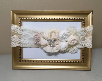 Rose & Ruffle Lace Headband for Babies and Girls