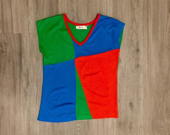 80s Colorblock Ringer Tee