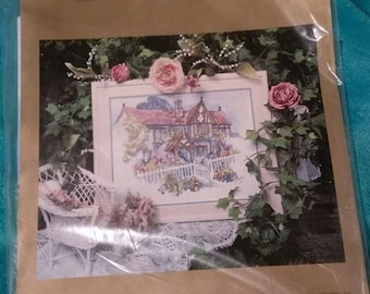 1991 Rose Cottage Cross Stitch Kit