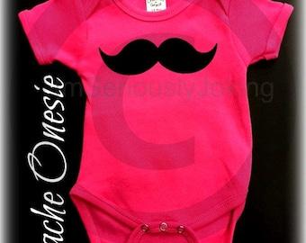 Mustache Onesie-Little Miss Party-Baby shower-baby shower gift-Mustache party-Pink onesie-baby boy-baby girl-Mustache clothes-mustache theme