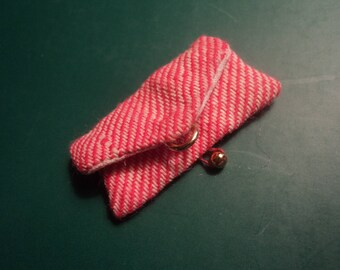 Vintage MOD Barbie Francie Doll Accessories Shoppin' Spree #1261 Red White Striped Clutch Purse