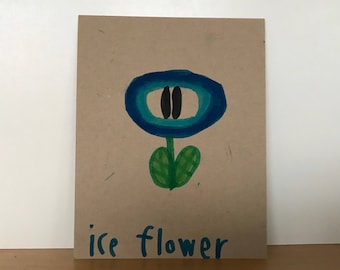 Ice Flower Loveycard