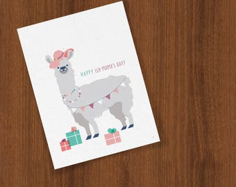 Happy Mother's Day Llama Spring Greetings Celebration Folded Cards