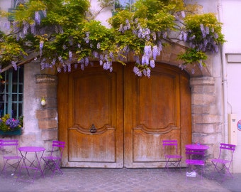 Paris Photography - Fine Art Photography - Paris Decor - Paris Wall Print - Paris Art Print - Paris Wall Decor - Wisteria - Spring in Paris