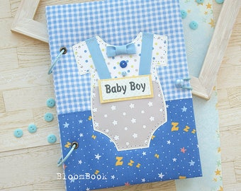 Baby Memory Book Boy, Baby Album, Personalized Baby Book, Baby Record Book, Baby Shower Gift, Scrapbook Baby, Baby Record Book, Photo Album