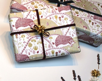 Hedgehog and Pinecones Tissue Paper
