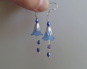 Forest flower raindrop earrings