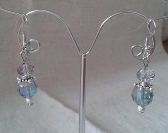 """transparent duo"" earrings"