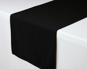 Black Table Runner 14 X 108 inches | Black Table Runners for Weddings, Hotels and Restaurants