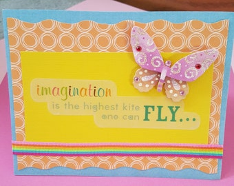 Butterfly Inspirational Quote Graduation Greeting Card