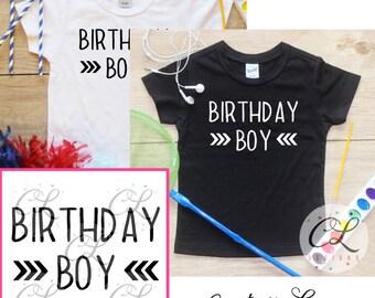 Birthday Boy Shirt Bodysuit / Toddler Clothes Birthday Boy T-Shirt 1st 2nd 3rd 4th 5th Birthday Boy Outfit Birthday Party Baby Boy Set 217