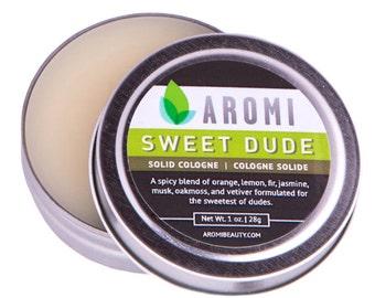 Sweet Dude Solid Cologne, Men's Fragrance, Travel Cologne, Alcohol Free, Vegan Cologne, Cruelty-Free Men, Stocking Stuffer, Gift for Him