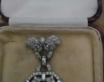 Vintage Edwardian suspended rhinestone watch /brooch, Regalis