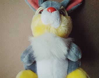 Vintage Thumper Bambi Disneyland Plush Bunny Walt Disney World, Stuffed Animal 1980s