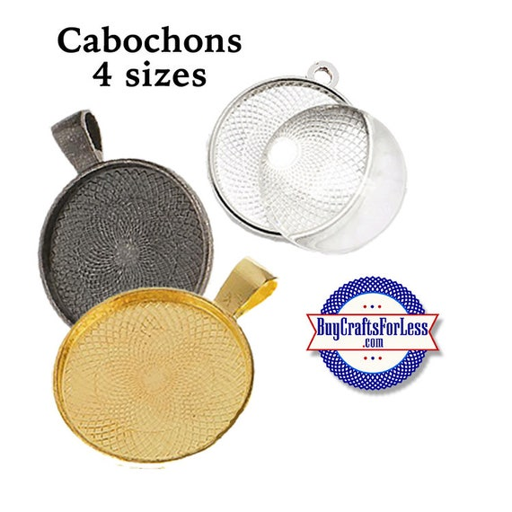 CABOCHONS, 4 Sizes, 4 Colors, Glass or Epoxy +FREE SHIPPING & Discounts*