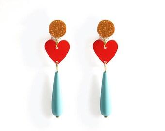 Delirium of Love Earrings / Love Talismans Collection.