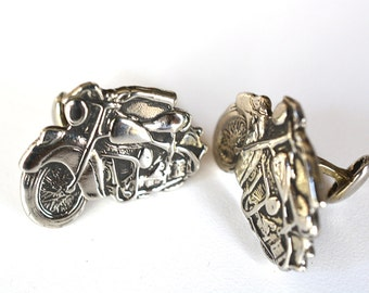 Indian Motorcycle Cufflinks in Sterling SIlver