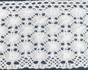 "4"" Cotton Cluny Lace Trimming - 5 Continuous Yards"