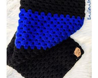 Thin blue line // baby blanket