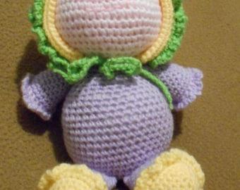 Crochet Sleeping Buddy Doll ~ small ~ Purple ~ Scrappin Magic Crochet