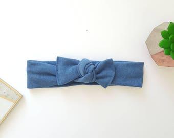 Blue baby top knot headband, Baby headband, Baby headbands, Baby hair accessories, Baby headband knot, blue headband, baby top knot
