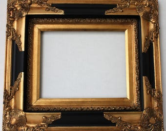 Gold Ornate Picture Frames Baroque Black Wood Open Frame Photo Frames Signs Wedding Shabby Chic Frame 22x28 Frames For Weddings
