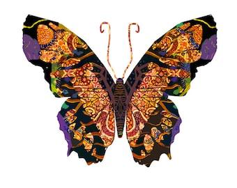 11x14 Renaissance Heart Butterfly Print